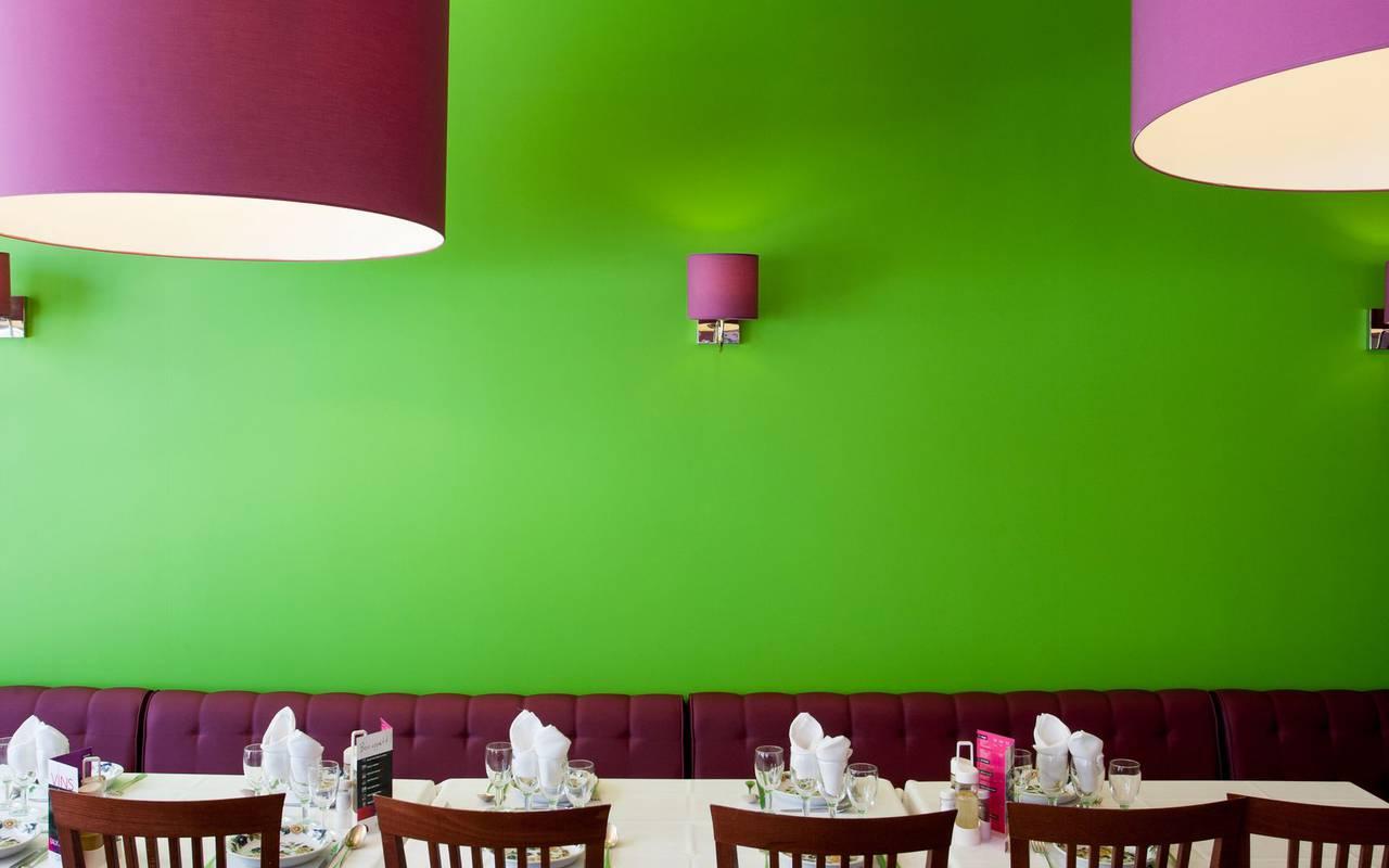 Restaurant's wall, restaurant Lourdes, hotel Panorama