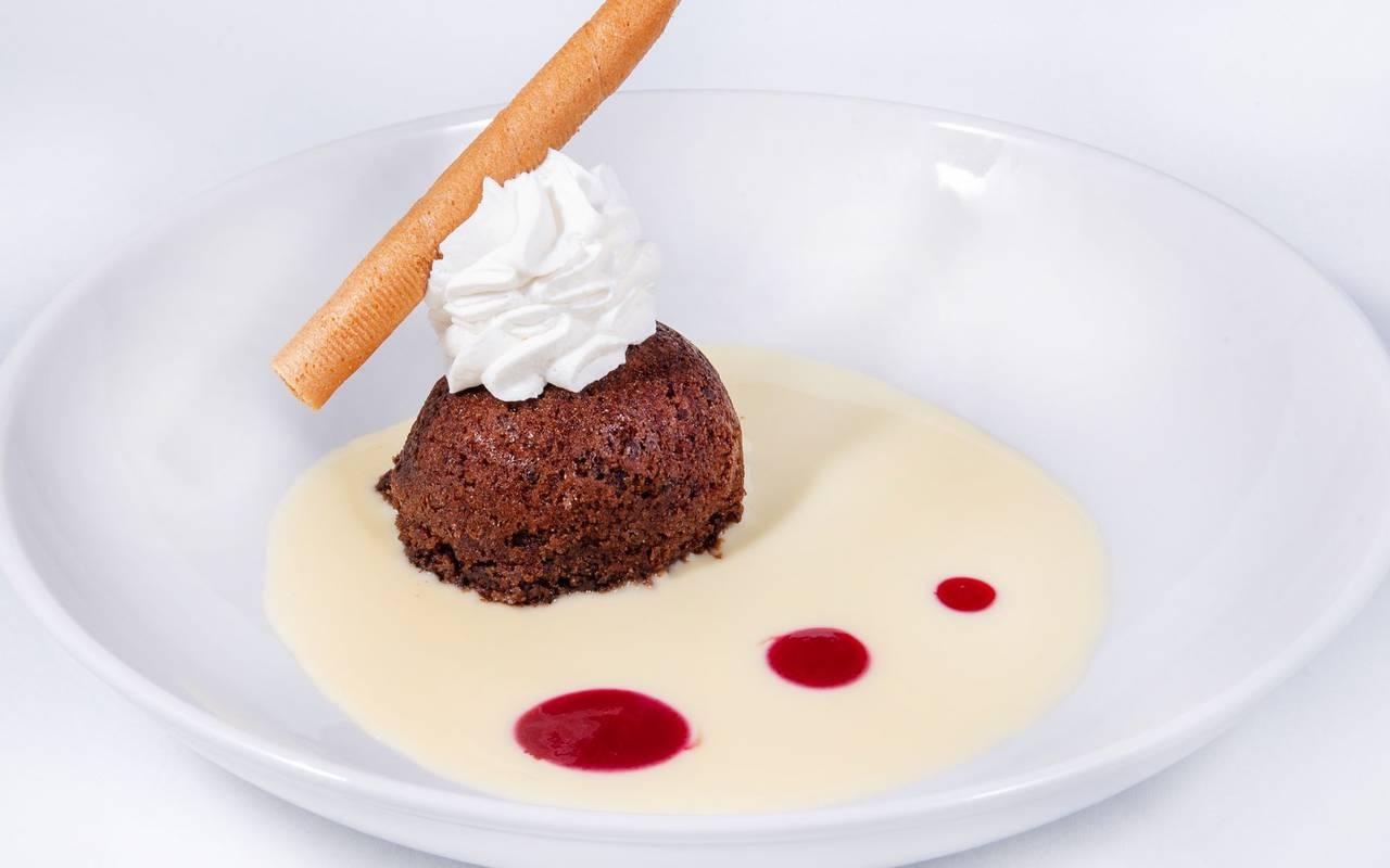 Dessert, restaurant Lourdes, hotel Panorama