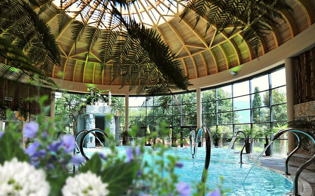 Spa jardin des bains, trip pyrenees, hotel Panorama