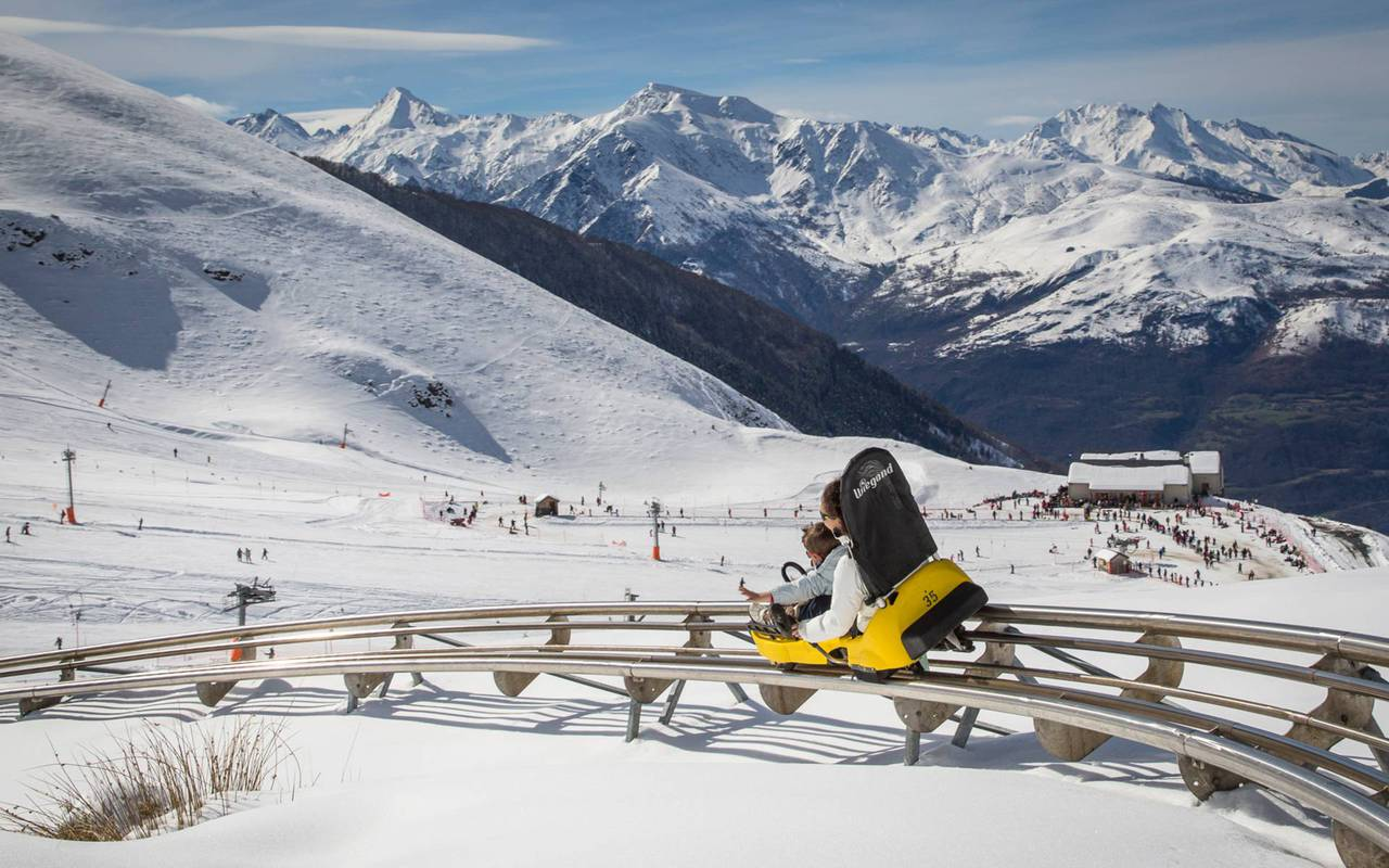 Mountain luge, trip pyrenees, hotel Panorama